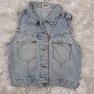 Vintage GUESS Jeans Denim Crop Jean Vest Size 2